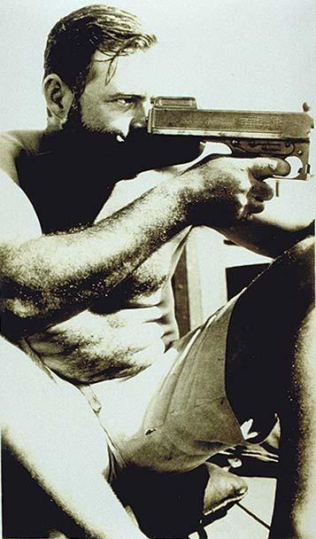 Ernest Hemingway tommy gun