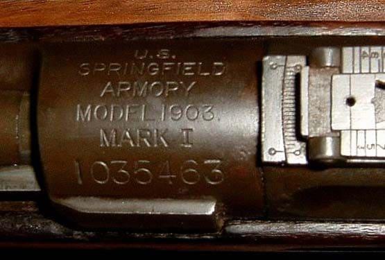 Mark I Springfield rifles bear these markings.