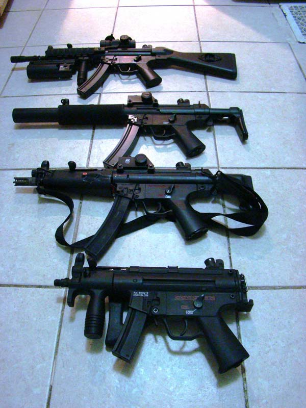 A tasty array of MP5 variants.