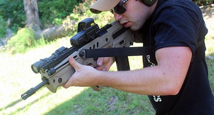 magpul sling on iwi tavor rifle