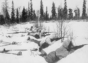 Finns outnumbered against Russia after WWI.
