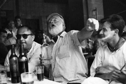 Hemingway drinking