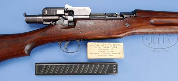 Pedersen device installed on a 1903 rifle