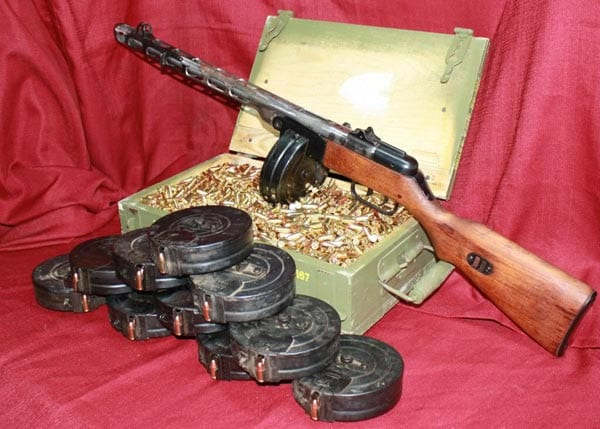 PPSH with drum magazines.