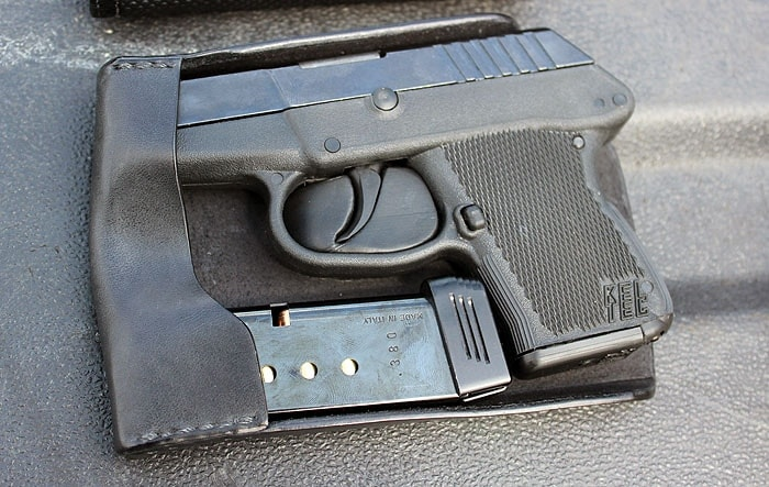 kel tec p3at in a recluse holster