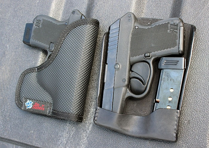 2 recluse holsters sitting next to eachother