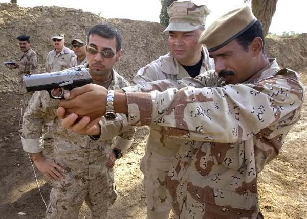 Ruger P95 with Iraqi soldier