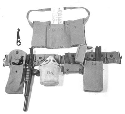 Infantry kit with Pedersen device and magazines.