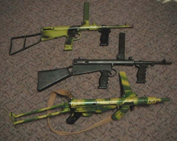 WWII submachine guns