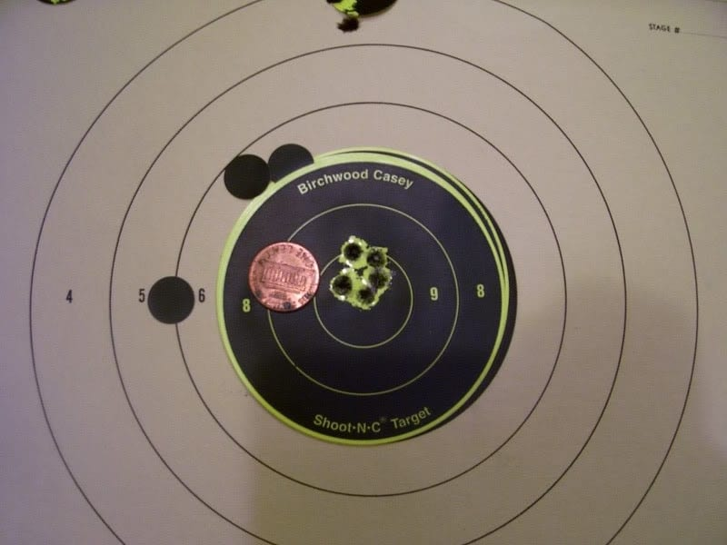 The author's group at 50 yards.
