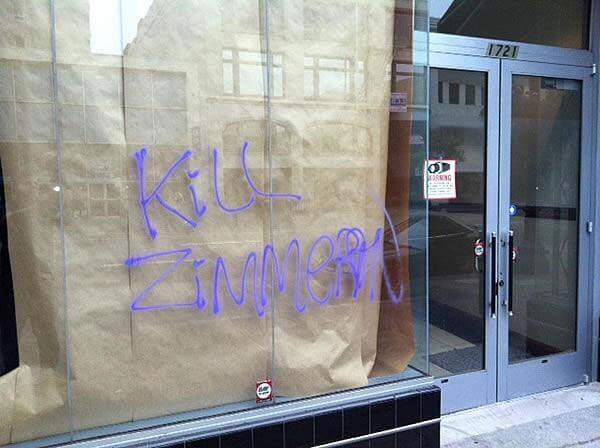 Kill Zimmerman graffiti in Oakland