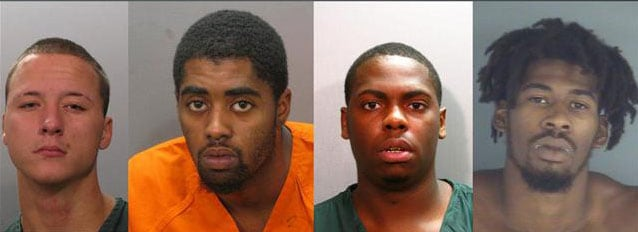 The four suspects said nothing about George Zimmerman or Trayvon Martin, but admitted that they were after some dope. (Photo credit: Jacksonville Sheriff's Department)