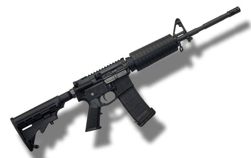 an ar15 type rifle