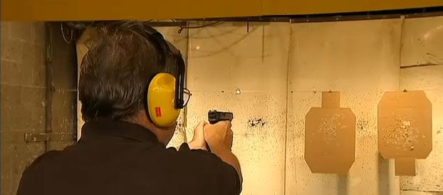 """That's the meat and potatoes of what a carry permit is about: when you legally can use deadly force in defense of yourself or somebody else,"" the NRA's Todd Vandermyde explained. (Photo credit: Fox 32, Chicago)"