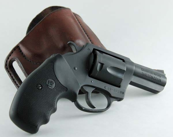 charter arms bulldog revolver pictured with holster