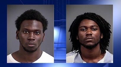 The two suspects are now behind bars thanks in part to an armed citizen. (Photo credit: ABC News, Charleston)