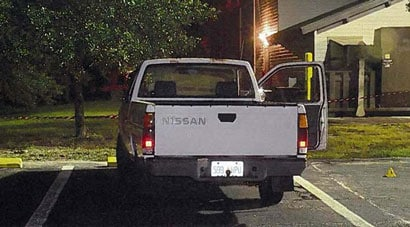 """No """"Free Zimmerman"""" sticker on that truck… unless of course the police removed it. (Photo credit: Jacksonville Sheriff's Department)"""