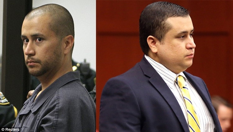"""Before and after shots. Perhaps if Zimmerman was the same weight then as he is now, perhaps he would have been referred to as a """"fat-ass cracker"""" rather than a """"creepy-ass cracker."""""""