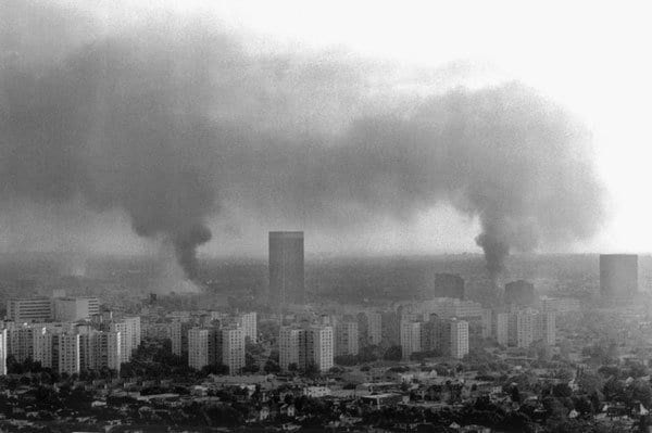L.A. during the riots.