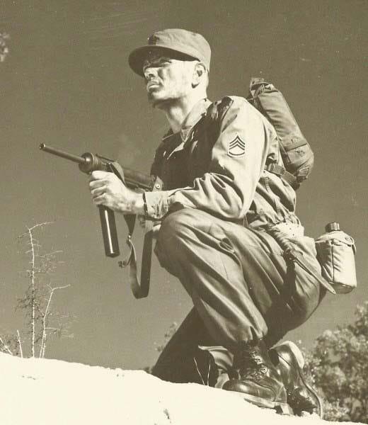 M3 submachine gun, 1950s.