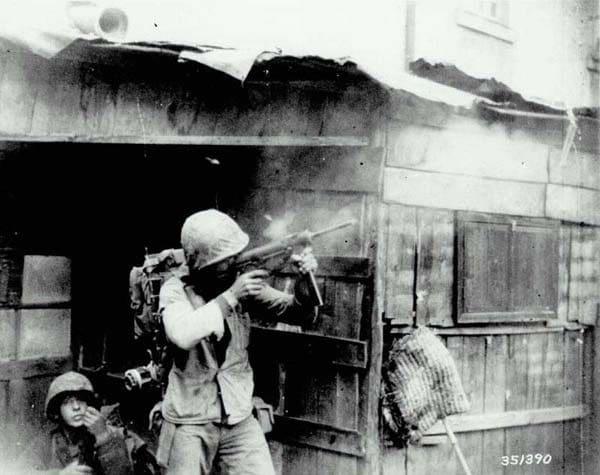 M3 submachine gun Korea.