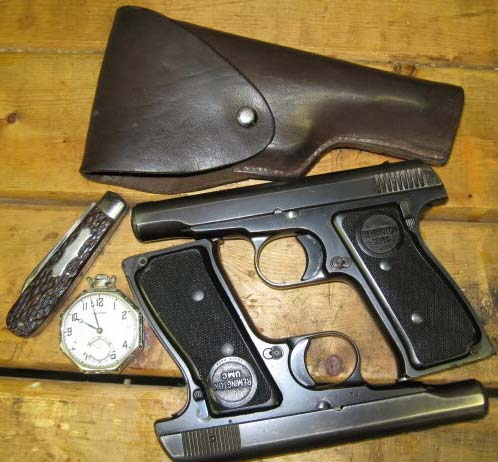 Remington 51 with holster and knife
