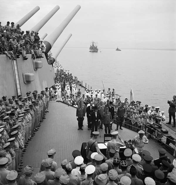Japanese surrender on the Missouri