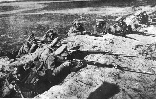 Tsarist Russian troops with Winchesters