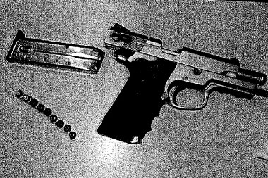 The .40-caliber Smith & Wesson still had nine of the 10 rounds remaining. (Photo credit: M Live)