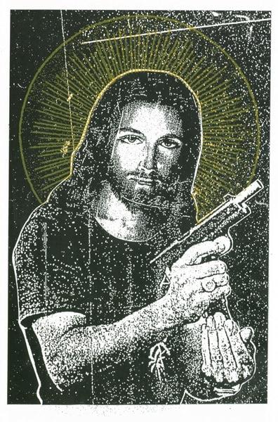 Jesus with gun