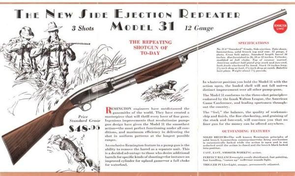 Remington Model 31 ad