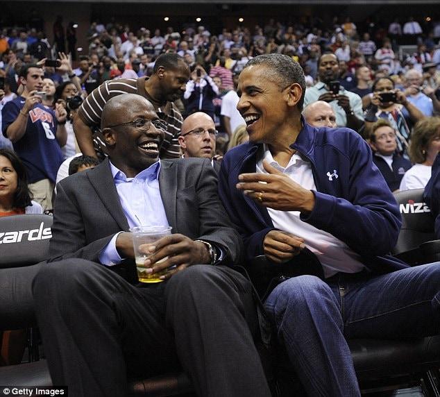 Reggie and President Obama.