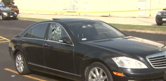 It's unclear who needed more range time: The robbers or the woman shooting at them. (Photo credit: Click2Houston)