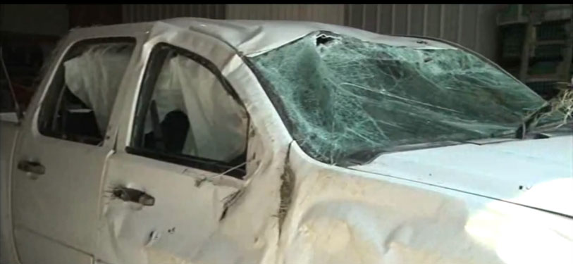 A massive manhunt ensued after the man escaped from prison, shot a deputy, stole the deputy's truck, then led police on a chase before wrecking the stolen truck. (Photo credit: Quad-City Times)