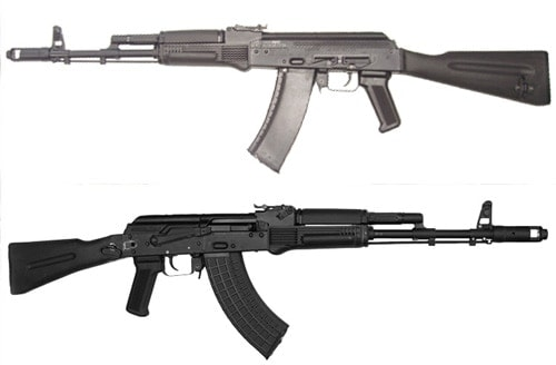 Two Arsenal AKs.  The top is  5.45, the bottom 7.62.