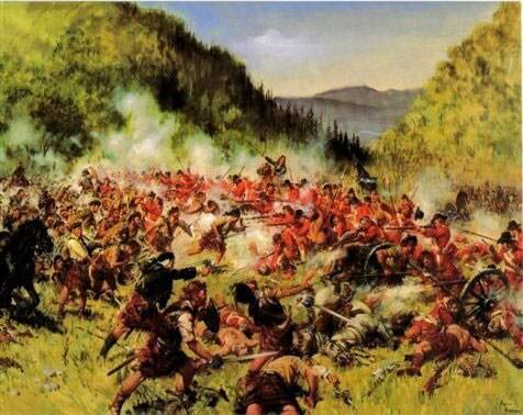 The Battle of Killiecrankie.