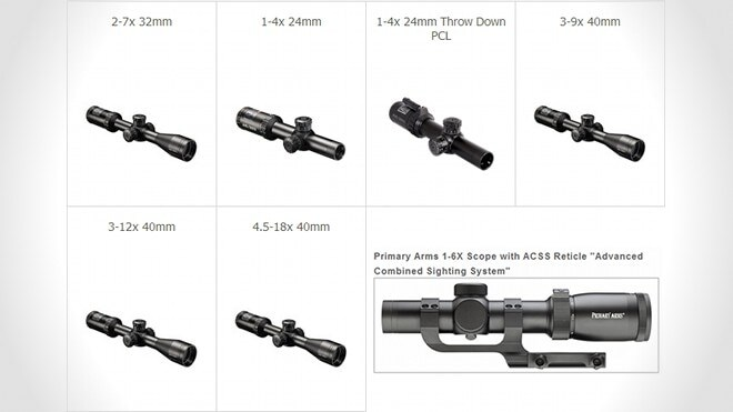 bushnell primary arms ar scopes