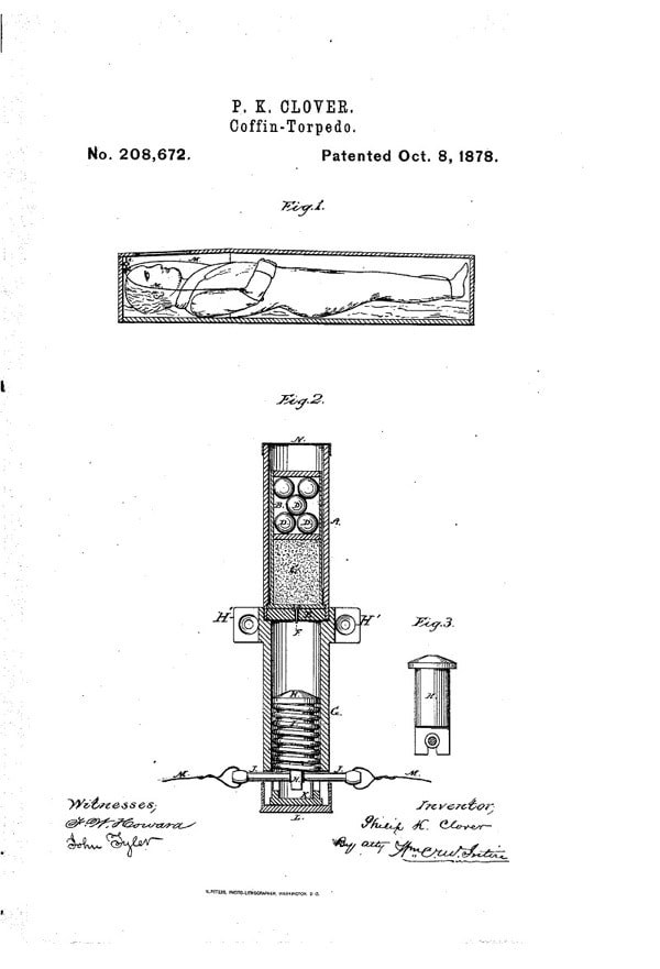 Schematics of a coffin torpedo. Not a good way to die, or to be dead.