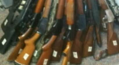 redingtons rifle collection displayed