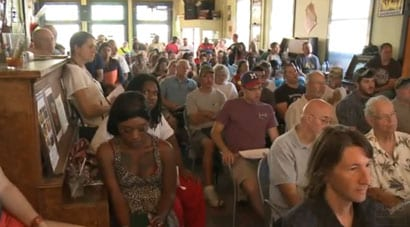 Some attending stood up for the entire four hour class, as there were more in attendance than there were chairs to sit on. (Photo credit: FOX 6, Milwaukee)