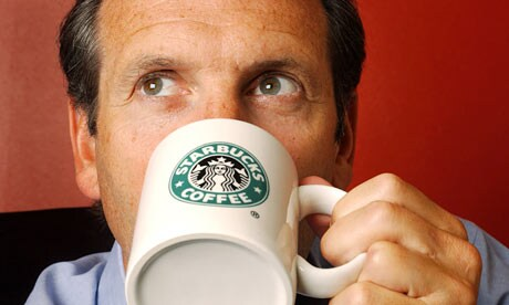 Starbucks CEO Howard Schultz drinks about nine cups of coffee a day.