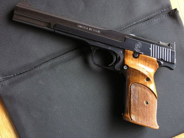 Smith & Wesson Model 41 on bag
