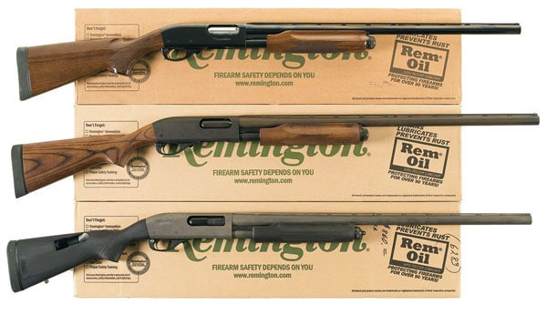 Remington 870 pump shotguns