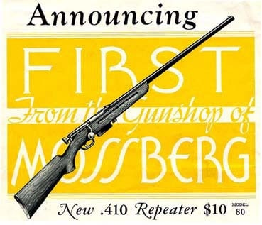 Mossberg Model G Bolt Action Repeater 1930 advertisement