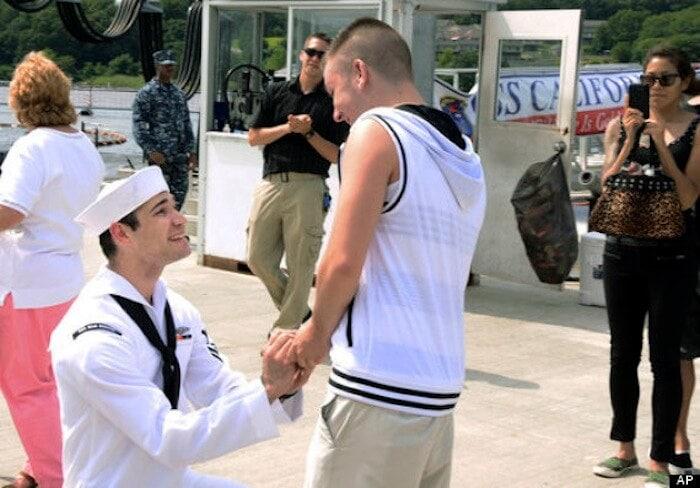 Submarine Deployment Marriage Proposal
