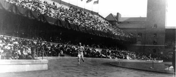 Patton at the Stockholm Olympics.