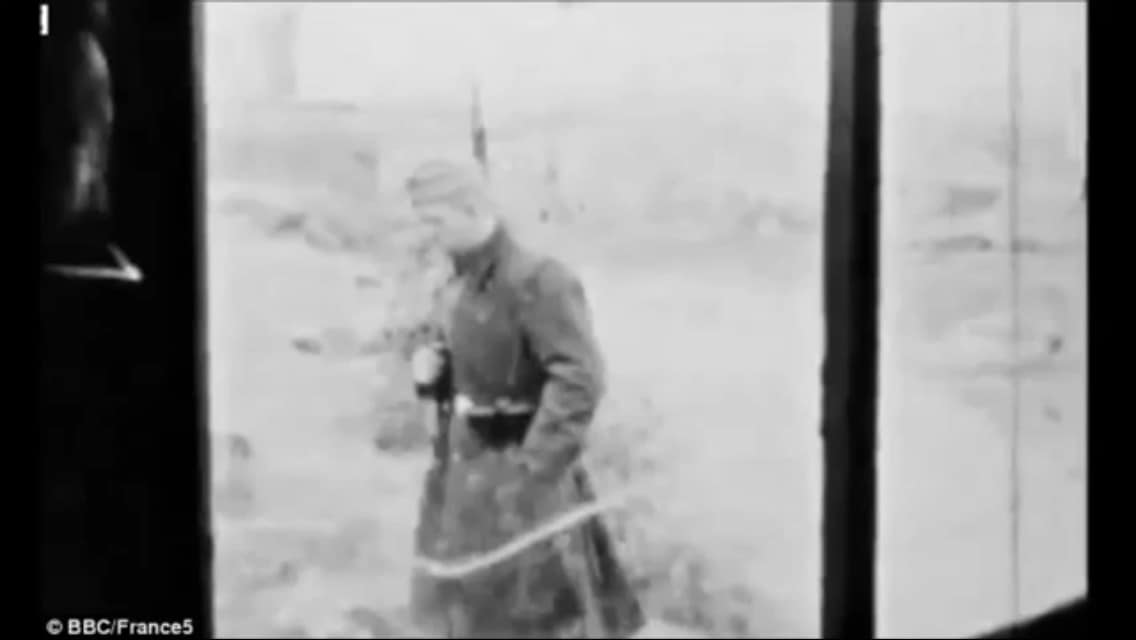 French WWII prisoners sneak in 8mm camera, secretly film guards and