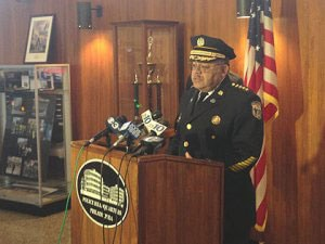Philadelphia Police Commissioner Charles Ramsey claims that the change in who is responsible for the weapons has nothing to do with either the audit or the missing weapons. (Photo credit: NBC, Philadelphia)