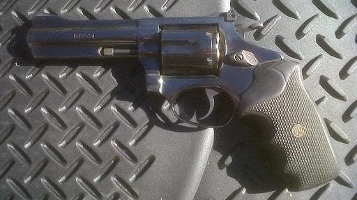 "Rossi 4"" .357 Magnum on a car mat"