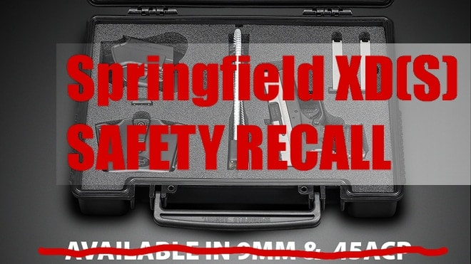 springfield armory xds safety recall